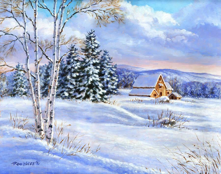 Картина зимняя сказка