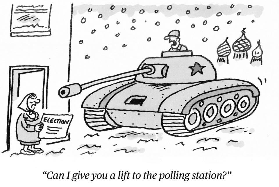 В России выборы проходят под дулами танков – британские СМИ