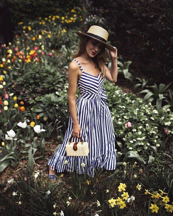Модный тренд этого лета-платья и сарафаны в полоску