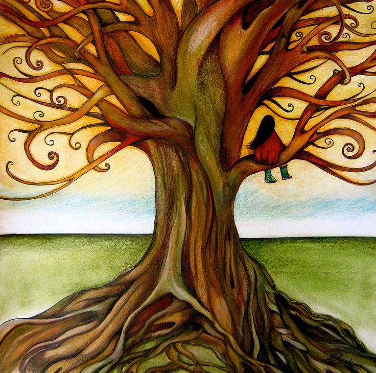 the infinite tree art print by claudiatremblay on Etsy