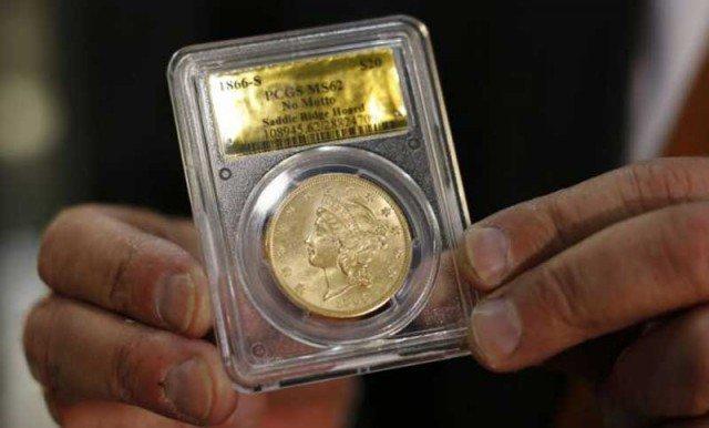 А вот реальный размер такой 20-долларовой монеты. Ее вес 34,5 грамма (золото 900 пробы ), диаметр 3.4 см Клады, интересно, история, сокровище