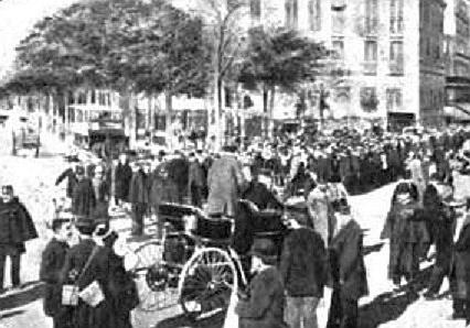 Безумные скорости Эмиля Левассора. 1897 год 1897 год,автомобили,история,Эмиль Левассор