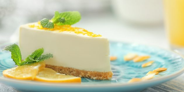 Лимонно-творожный чизкейк без выпечки