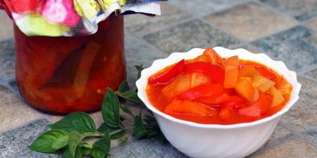 Рецепты лечо: Классическое лечо из болгарских перцев и помидоров