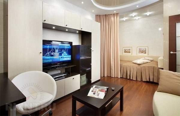 как расставить мебель в однокомнатной квартире, фото 2