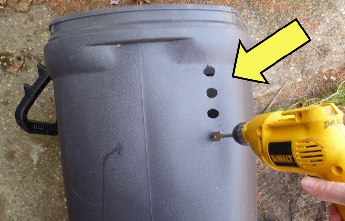 Зачем делать дырки в контейнер для мусора