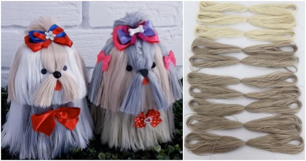 Гламурные щенки из ниток: шить или вязать не придется!