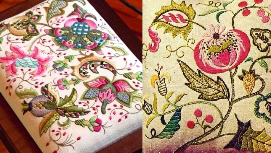 Вышивка Крюил — изящное украшение любой вещи