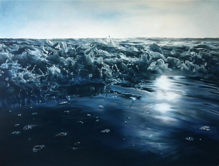 Реалистичные пейзажи с ледниками Антарктиды и пенными волнами Мальдив живопись