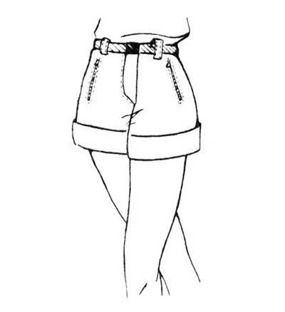 Картинки девушек в шортах карандашом