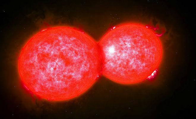 Редкое явление на видео: звезда поглощает другую звезду