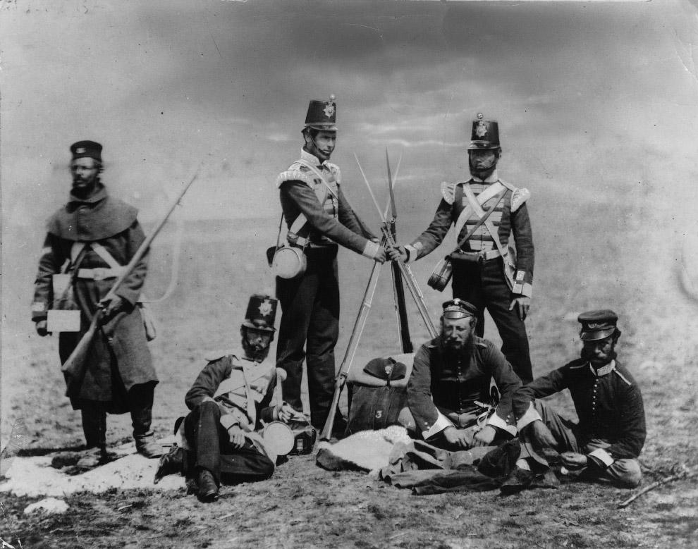 Британские солдаты во время Крымской войны