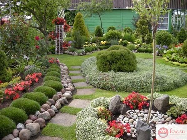 Ландшафтный дизайн на садово…