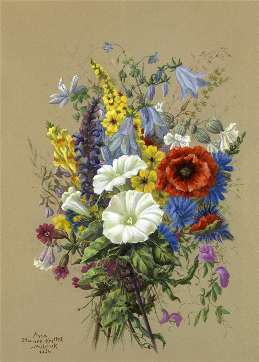 Цветочное...Аnna Stainer-Knittel(1841-1915)