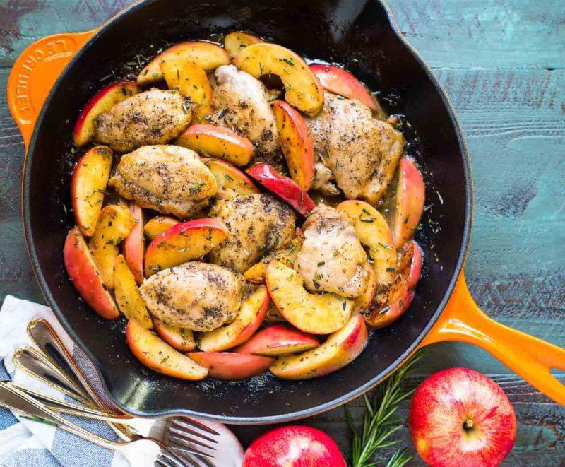 Изображение рецепта Запечённая курица в яблочном маринаде