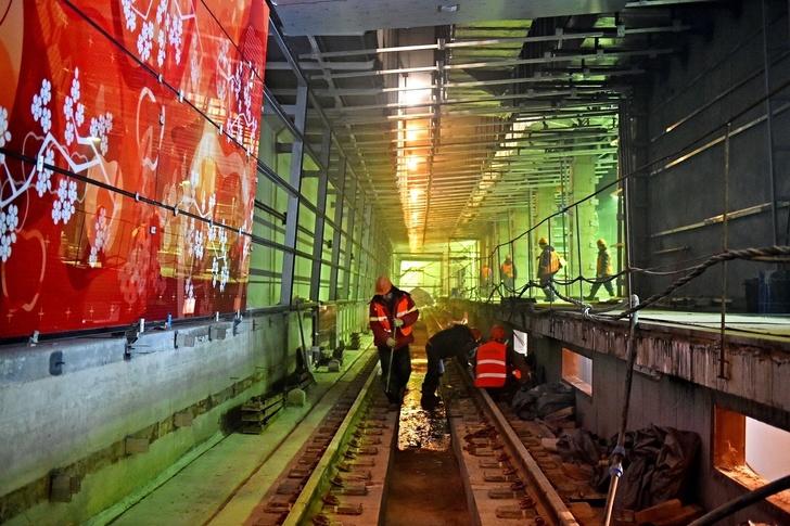 Строительство станции метро «Мичуринский проспект» в Москве