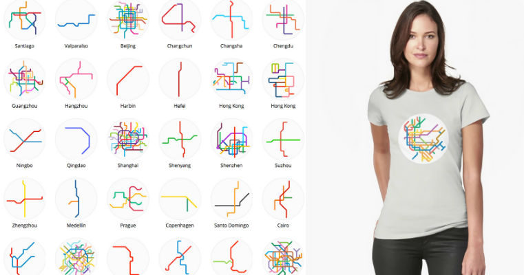 Дизайнер превратил схемы мирового метро в минималистичные символы