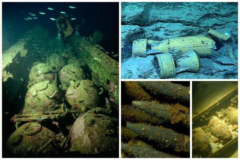 Оружие и снаряды жизнь, затонувшие, под водой, страшно, техника, удивительно