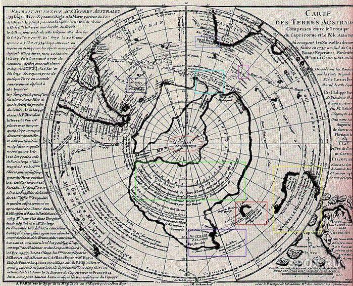 Антарктида без льда: спорная карта Буше