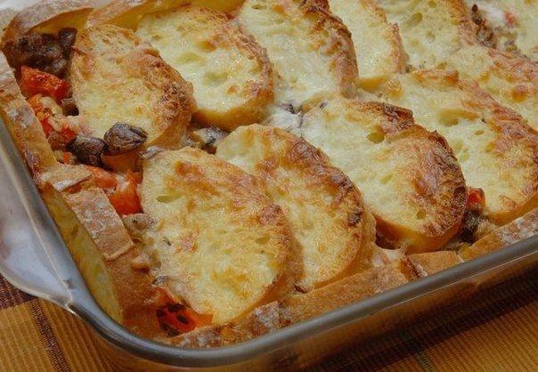 Мясная запеканка с хлебом — даже не сомневайтесь, это очень вкусно