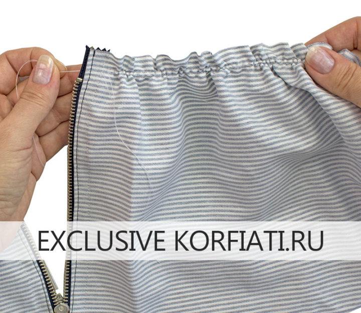 Яркая юбка-татьянка на поясе юбка татьянка