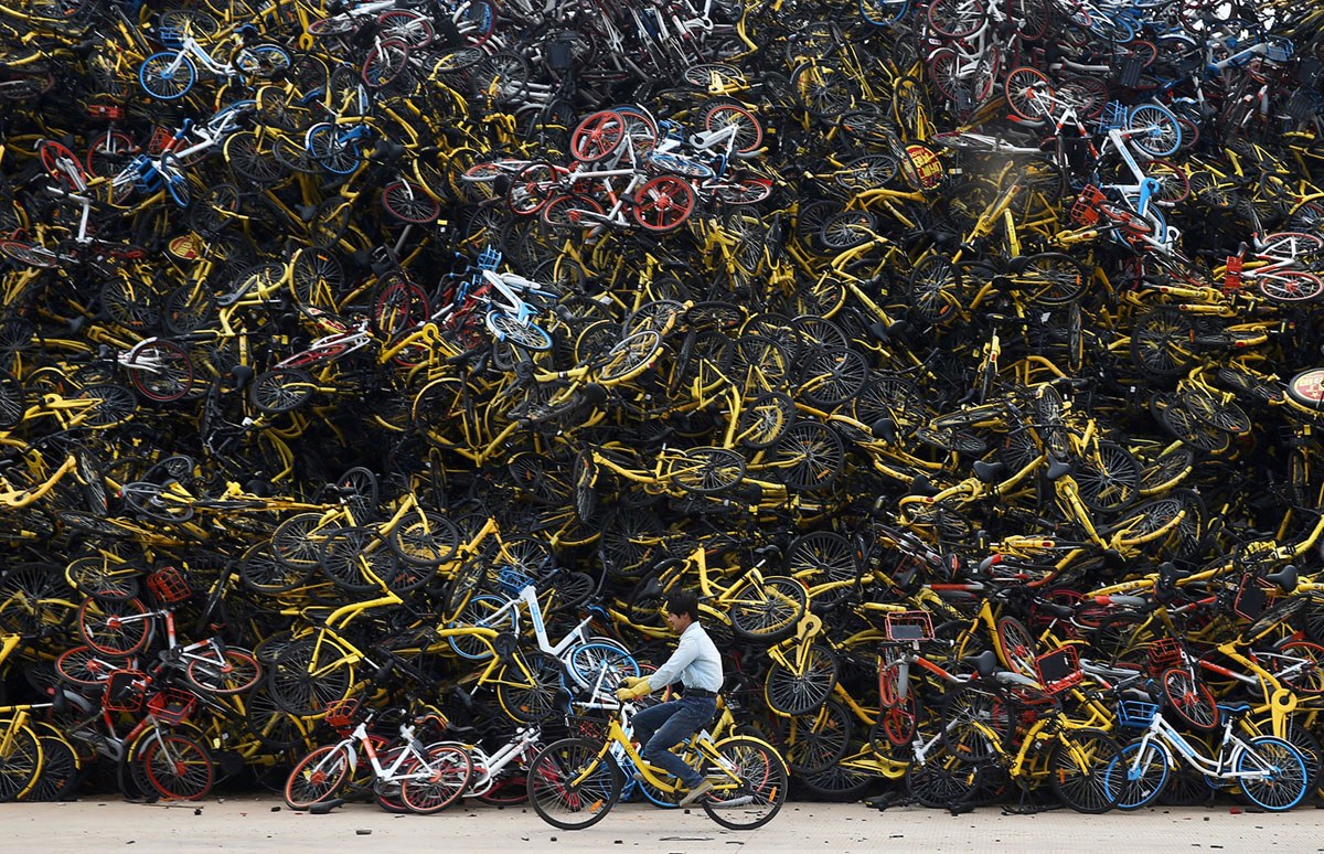 Велосипедный потоп в Китае