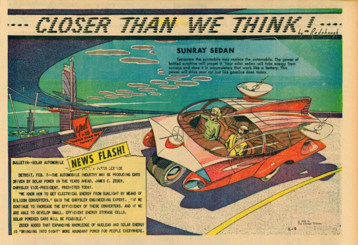 Автомобили на солнечных батареях.