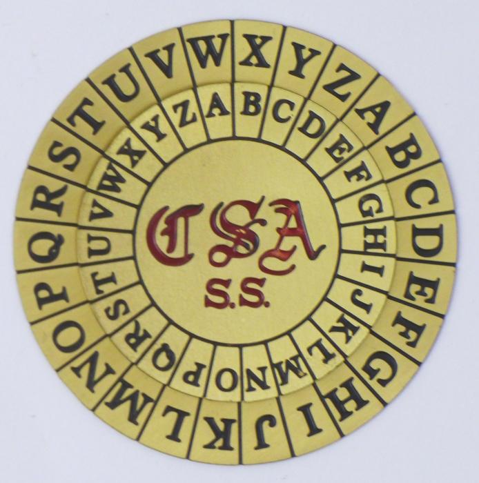 Расшифровать текст с помощью диска несложно, только если известен язык, на котором писалось сообщение. /Фото: ciphermachines.com