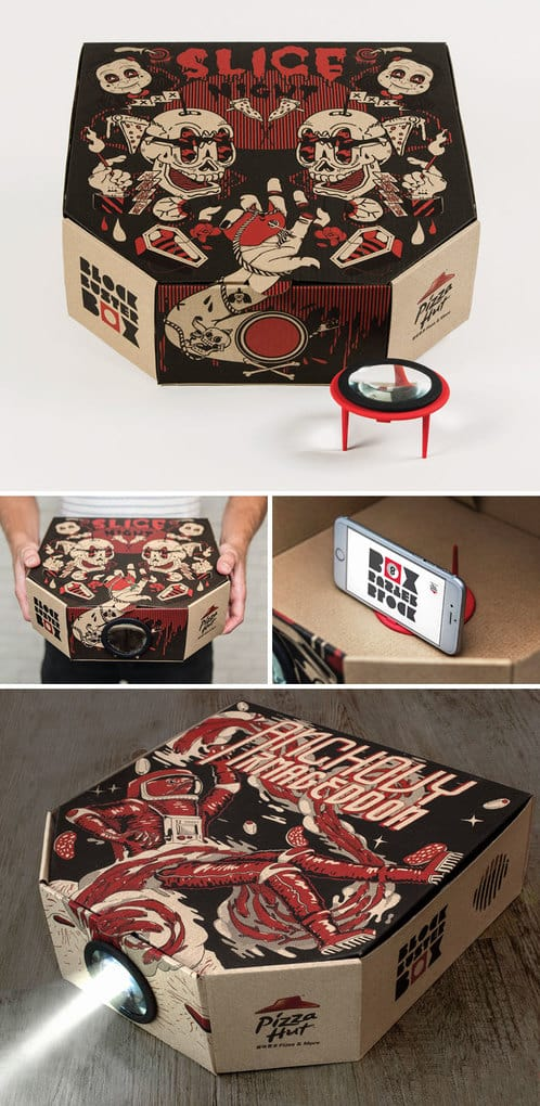 The Pizza Box That Turns Into A Projector