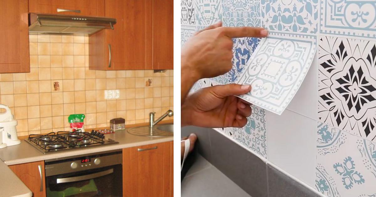Необычный способ декора, который поможет полностью и легко изменить вашу кухню