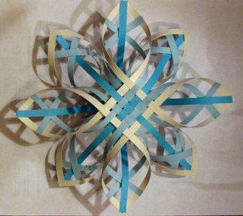 Объемные снежинки из бумаги. Подборка. 4МК