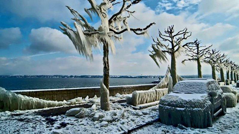 Замёрзший шторм природа, природные явления, удивительная природа