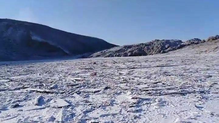 Громадный метеорит перекрыл русло реки Бурея в Хабаровском крае