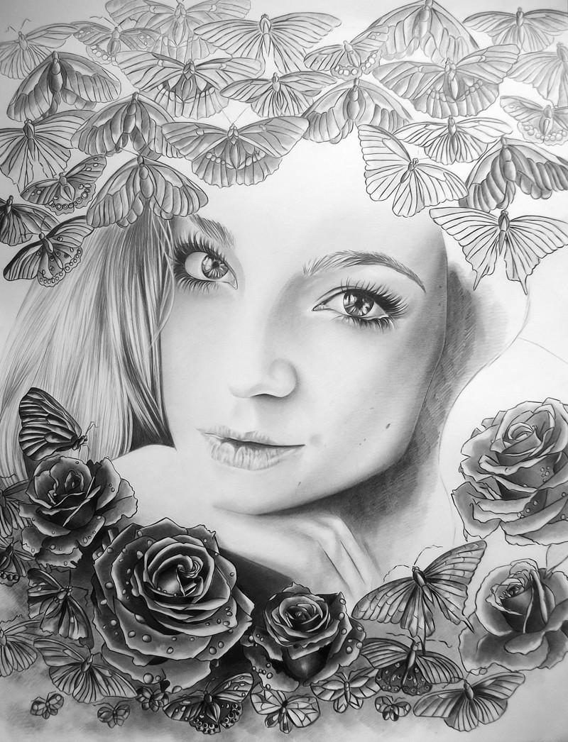 Поздравлениями, картинки рисуем сами простым карандашом