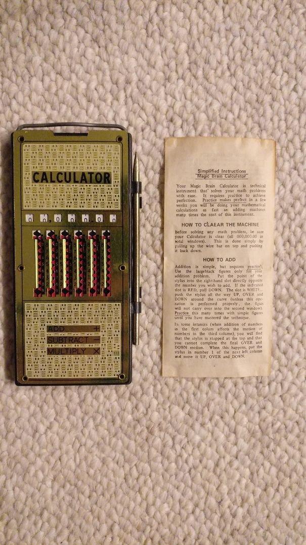 13. Старый калькулятор, найден на чердаке у прабабушки Неожиданная находка, интересные вещи, интересные находки, находки, находки и открытия, не ждали, случайно