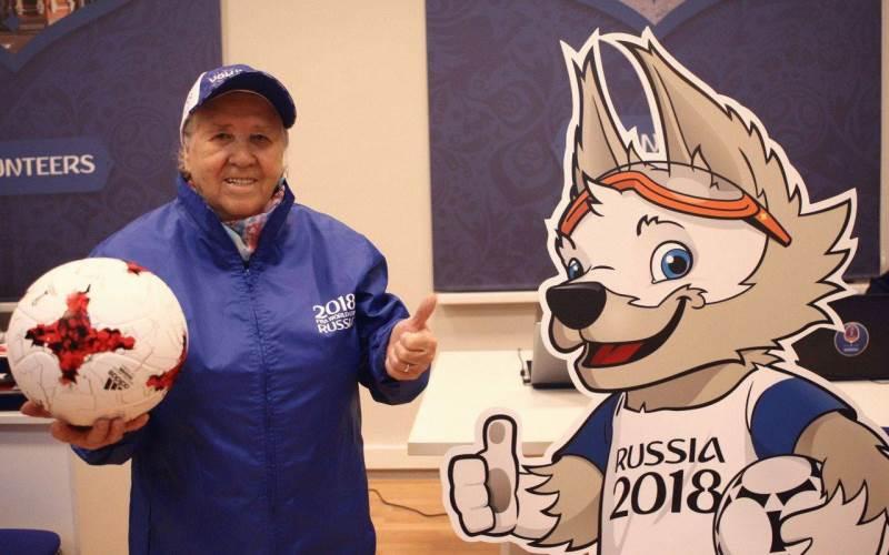 Самым возрастным волонтером ЧМ-2018 стала 86-летняя Лидия Никитична из Саранска