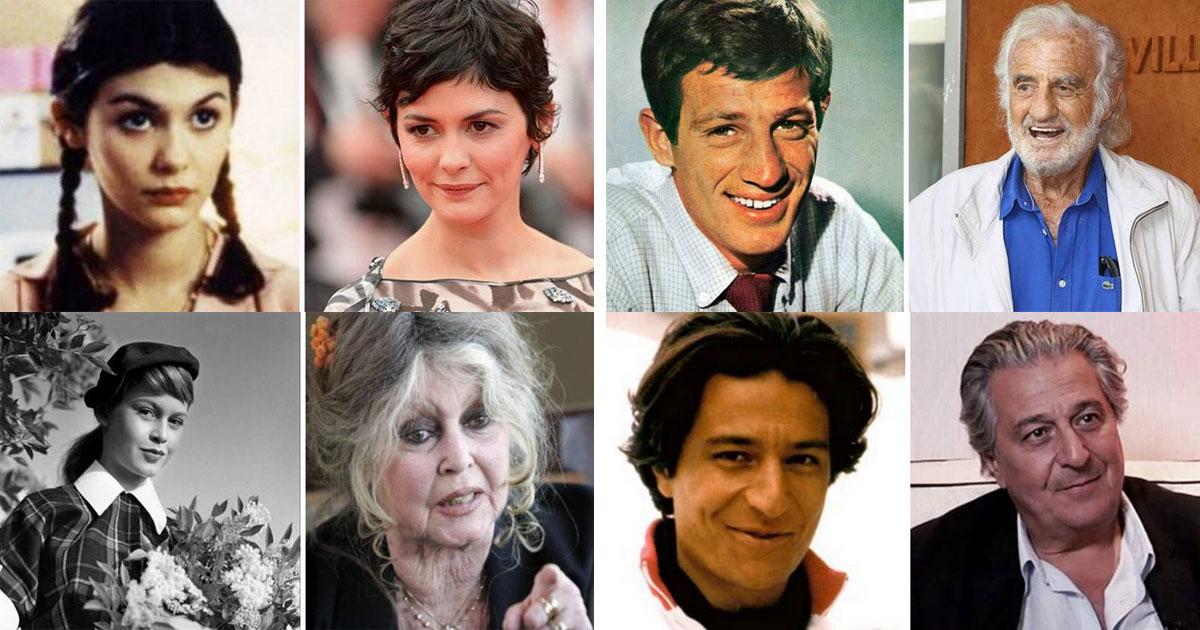 Как изменились лучшие французские актеры со времен своих первых ролей