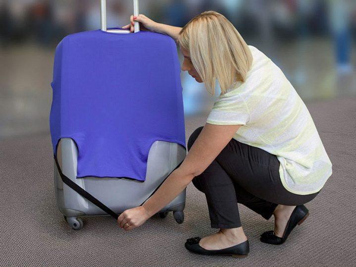Защитный чехол на чемодан своими руками