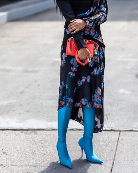 С чем носить высокие сапоги весной 2018, чтобы быть в тренде