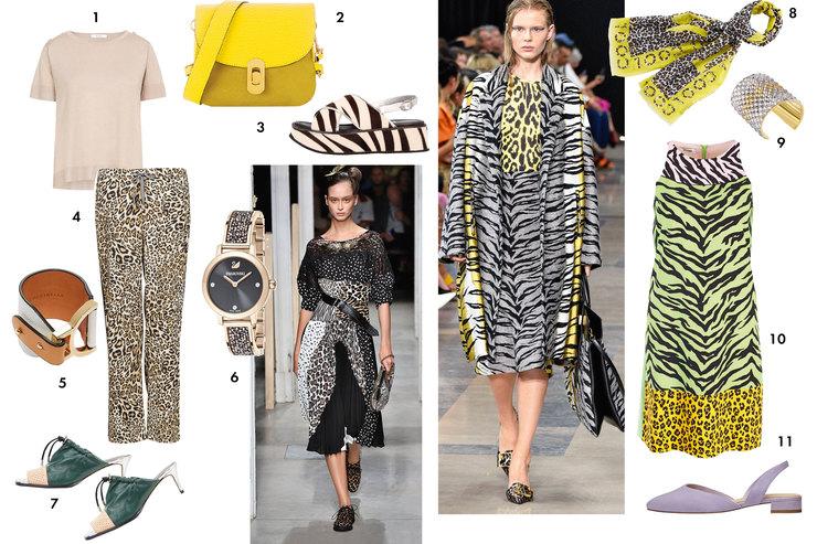 C чем носить главные принты сезона - змеиный, тигровый, цветочный, тропический, леопардовый