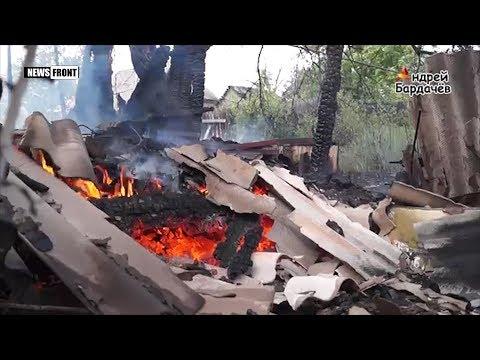 В результате обстрела Трудовских сгорел жилой дом