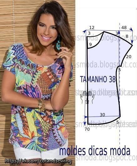 Простые выкройки летних блузок №1