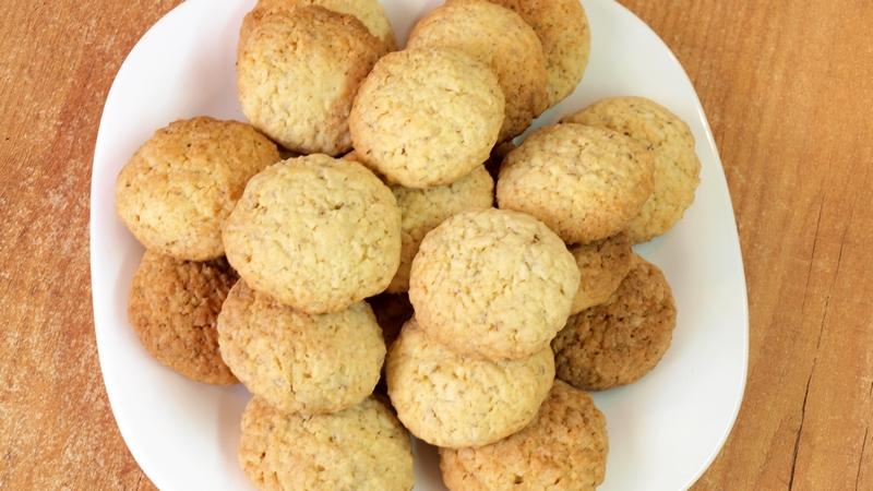 Кокосовое печенье - видео рецепт