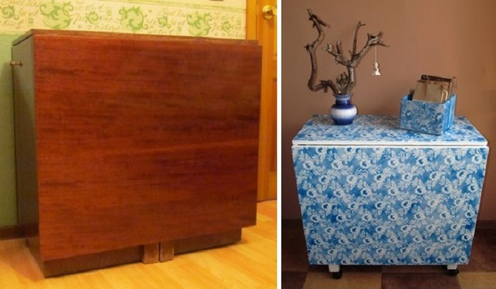 Такой стол можно увидеть в уголке комнаты у многих людей, обычно на нем стоят горшки с цветами.