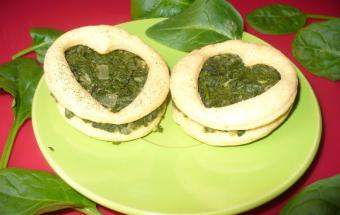 Печенье со шпинатом