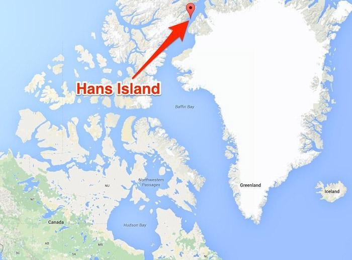 Тихая война двух стран за остров Ганса