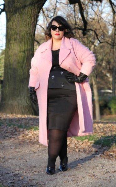 7 стильных образов с пальто для пышных женщин на осень 2018