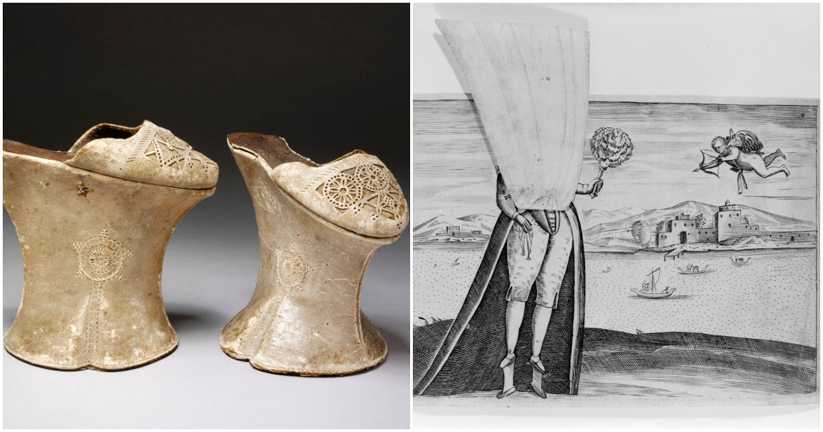 Сhopines — модная женская обувь 15-16 веков
