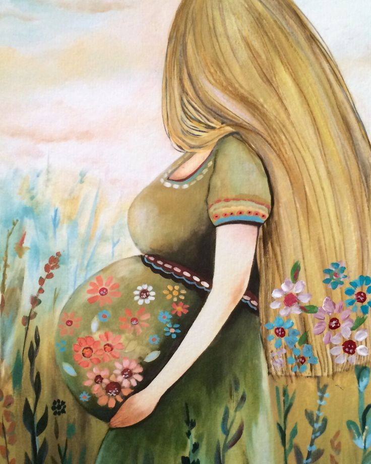 Mother to be art print by claudiatremblay on Etsy