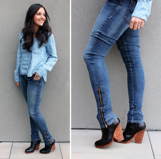 ИГОЛКА С НИТОЧКОЙ. Перешиваем старые джинсы